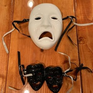 Black & White Mask Wall Decor